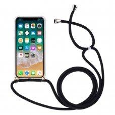 """Gelinis dėklas su virvele """"Rope airbag"""" Samsung Galaxy S9 permatomas (bly92)"""