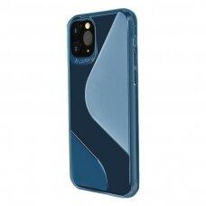 S-Case Flexible Tpu Lankstus Dėklas Samsung Galaxy A21S Mėlynas