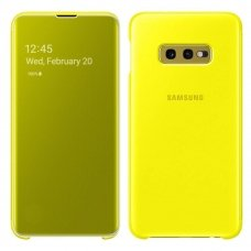 "Originalus Išmanus Samusng Dėklas ""Clear View Intelligent Display"" Samsung Galaxy S10E Yellow (Ef-Zg970Cyegww)"