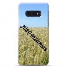Samsung Galaxy S10e TPU dėklas nugarėlė su jūsų dizainu. Dėklas gaminamas su jūsų pateikta nuotrauka