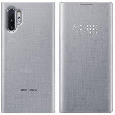 """Originalus Išmanus Atverčiamas Dėklas """"Samsung Led View Cover"""" Samsung Galaxy Note 10 Plus Sidabrinis (Ef-Nn975Psegww)"""