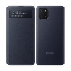 "Originalus išmanus Samsung atverčiamas dėklas ""S View Wallet "" Samsung Galaxy Note 10 Lite juodas (EF-EN770PBEGEU) (atm58)"