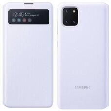 ORIGINALUS IŠMANUS SAMSUNG ATVERČIAMAS DĖKLAS S View Wallet Samsung Galaxy Note 10 Lite baltas (EF-EN770PWEGEU) (ctz014)