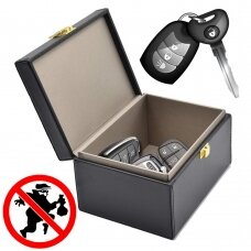 Signalo / Radio Blokatorius Faraday Box skirtas automobilių raktams / išmaniesiems telefonams Juodas