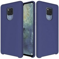 "SILIKONINIS LANKSTUS DĖKLAS ""FLEXIBLE RUBBER COVER"" HUAWEI MATE 20 DARK MĖLYNAS ML28"