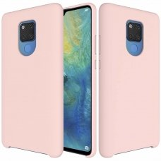 "SILIKONINIS LANKSTUS DĖKLAS ""FLEXIBLE RUBBER COVER"" HUAWEI MATE 20 ROŽINIS ML28"
