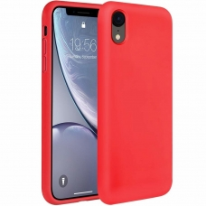 """Silikoninis Lankstus Dėklas """"Flexible Rubber Cover"""" Iphone Xr Raudonas"""