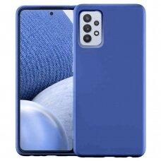 Dėklas Silicone Case Soft Flexible Rubber Samsung Galaxy A32 4G Tamsiai mėlynas
