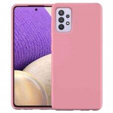 Dėklas Silicone Case Soft Flexible Rubber Samsung Galaxy A32 4G Rožinis