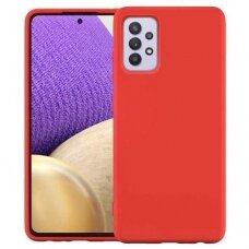 Dėklas Silicone Case Soft Flexible Rubber Samsung Galaxy A32 4G Raudonas