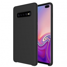 "SILIKONINIS LANKSTUS DĖKLAS ""FLEXIBLE RUBBER COVER"" SAMSUNG GALAXY S10 PLUS JUODAS"