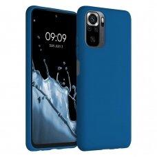 Dėklas Silicone Case Soft Flexible Rubber Xiaomi Redmi Note 10 Pro Tamsiai mėlynas