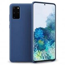 """SILIKONINIS LANKSTUS DĖKLAS """"FLEXIBLE RUBBER COVER"""" Samsung Galaxy S20+ (S20 Plus) tamsiai mėlynas"""