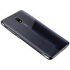 Skaidrus dėklas su spalvotu rėmeliu TPU Electroplating Xiaomi mi 8A juodas (ctz011) UCS133