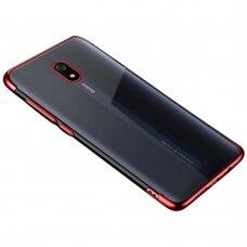 Skaidrus dėklas su spalvotu rėmeliu TPU Electroplating Xiaomi mi 8A raudonas (ctz011) UCS133