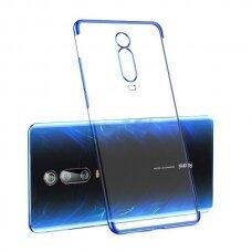 Skaidrus dėklas su spalvotu rėmeliu TPU Electroplating Xiaomi Mi 9T / Xiaomi Mi 9T Pro mėlynas (ctz011) UCS127