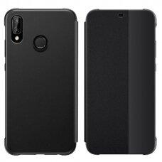 Atverčiamas dėklas Sleep case su išmaniuoju langu Huawei P20 Lite juodas (ctz012)