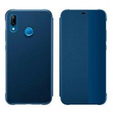 Atverčiamas dėklas Sleep case su išmaniuoju langu Huawei P20 Lite mėlynas (ctz012)