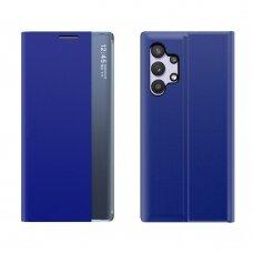 Atverčiamas dėklas Sleep Case Bookcase Samsung Galaxy A32 4G Tamsiai mėlynas