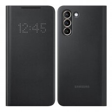 Originalus išmanus dėklas Smart LED View Cover Samsung Galaxy S21 Juodas