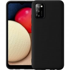 Dėklas Soft Case TPU gel protective case Samsung Galaxy A02s EU Juodas
