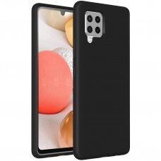 Dėklas Soft Case TPU gel protective case Samsung Galaxy A42 5G Juodas