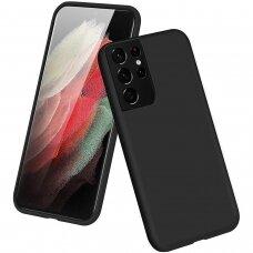Dėklas Soft Case TPU gel protective case Samsung Galaxy S21 Ultra 5G Juodas