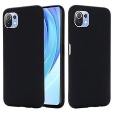 Dėklas Soft Case TPU gel protective case Xiaomi Mi 11 Lite 5G Juodas