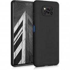 Dėklas Soft Case TPU gel protective case Xiaomi Poco X3 Pro / Poxo X3 NFC Juodas