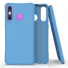 Silikoninis dėklas Soft Color Huawei P30 Lite Mėlyna
