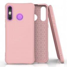 Silikoninis dėklas Soft Color Huawei P30 Lite Rožinis