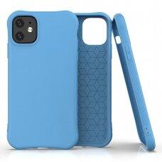 Silikoninis dėklas Soft Color Iphone 11 Mėlynas