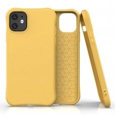 Silikoninis dėklas Soft Color Iphone 11 Gelltonas