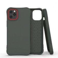 'Soft Color Case' lankstus gelinis dėklas iPhone 12 mini tamsiai žalias