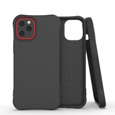 Soft Color Case Lankstus Gelinis Dėklas Iphone 12 Pro / Iphone 12 Juodas