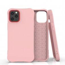 Soft Color Case Lankstus Gelinis Dėklas Iphone 12 Pro / Iphone 12 Rožinis