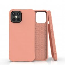 Soft Color Case Lankstus Gelinis Dėklas Iphone 12 Pro Max Oranžinis