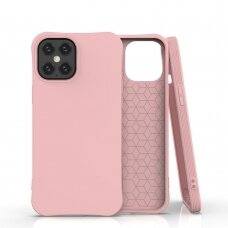 Soft Color Case Flexible Gel Case For Iphone 12 Pro Max Rožinis