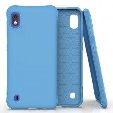 Silikoninis dėklas Soft Color Samsung Galaxy A10 Mėlynas