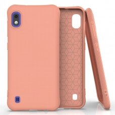 Silikoninis dėklas Soft Color Samsung Galaxy A10 Oranžinis