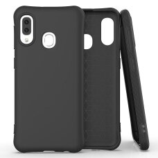 Soft Color Case Lankstus Gelinis Dėklas Samsung Galaxy A20E Juodas