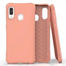 Soft Color Case lankstus gelinis dėklas Samsung Galaxy A20e oranžinis UCS033