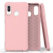 Soft Color Case lankstus gelinis dėklas Samsung Galaxy A20e rožinis UCS033
