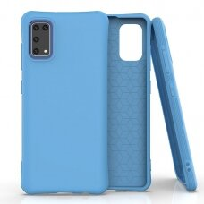 Silikoninis dėklas Soft Color Samsung Galaxy A41 Mėlynas