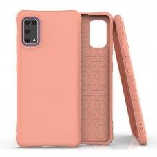 Silikoninis dėklas Soft Color Samsung Galaxy A41 Oranžinis