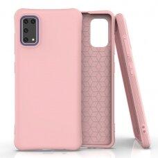 Silikoninis dėklas Soft Color Samsung Galaxy A41 Rožinis