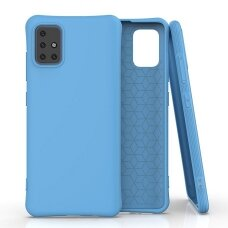 Silikoninis dėklas Soft Color Samsung Galaxy A51 Mėlyna