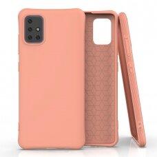 Silikoninis dėklas Soft Color Samsung Galaxy A51 Oranžinis