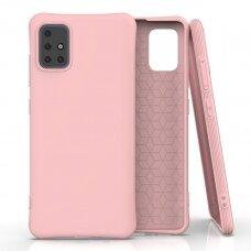 Soft Color Case lankstus gelinis dėklas Samsung Galaxy A51 rožinis UCS025