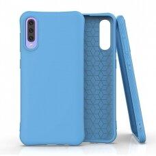 Silikoninis dėklas Soft Color Samsung Galaxy A70 Mėlynas